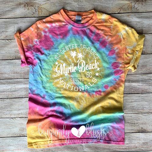 Tie Dye NJCOD Nationals T-Shirt