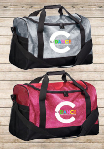 Embroidered All Out Glitter Duffel Bag