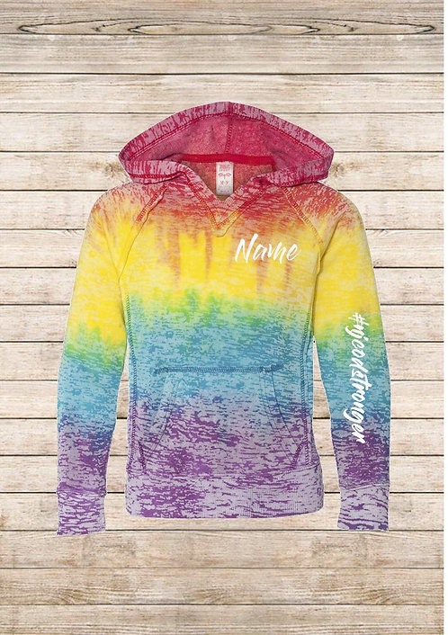 Burnout Tie Dye Hooded Sweatshirt