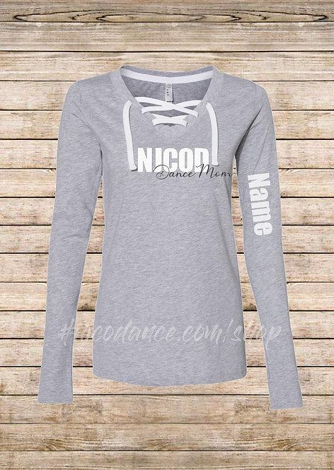 Women's Jersey Lace-Up Shirt