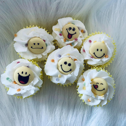 Mini cupcake Smiley
