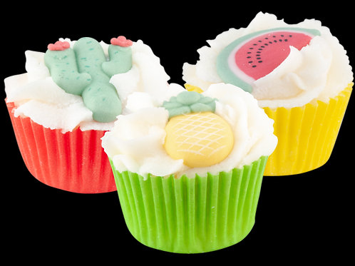Mini cupcake tropical summer