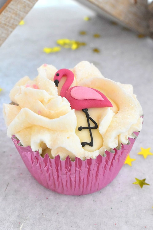 Triple cupcake Flamingo