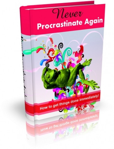 eBook cover  Never Procrastinate Again