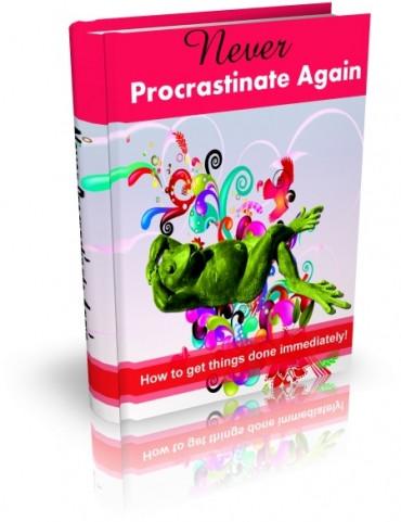 eBook cover  Never Procrastinate Again