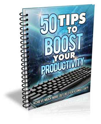 Book Cover 50 Tips to Boost your productivity