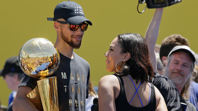 Stephen and Ayesha Curry NBA Title