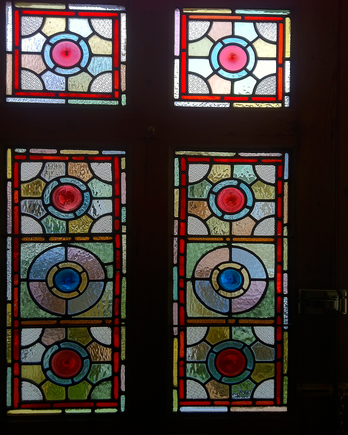 stained glass door chiswick