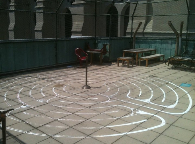 Union Labyrinth Installation
