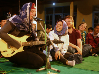 Televised Performance with Sufi Mystic Cak Nun in Jogjakarta, Indonesia