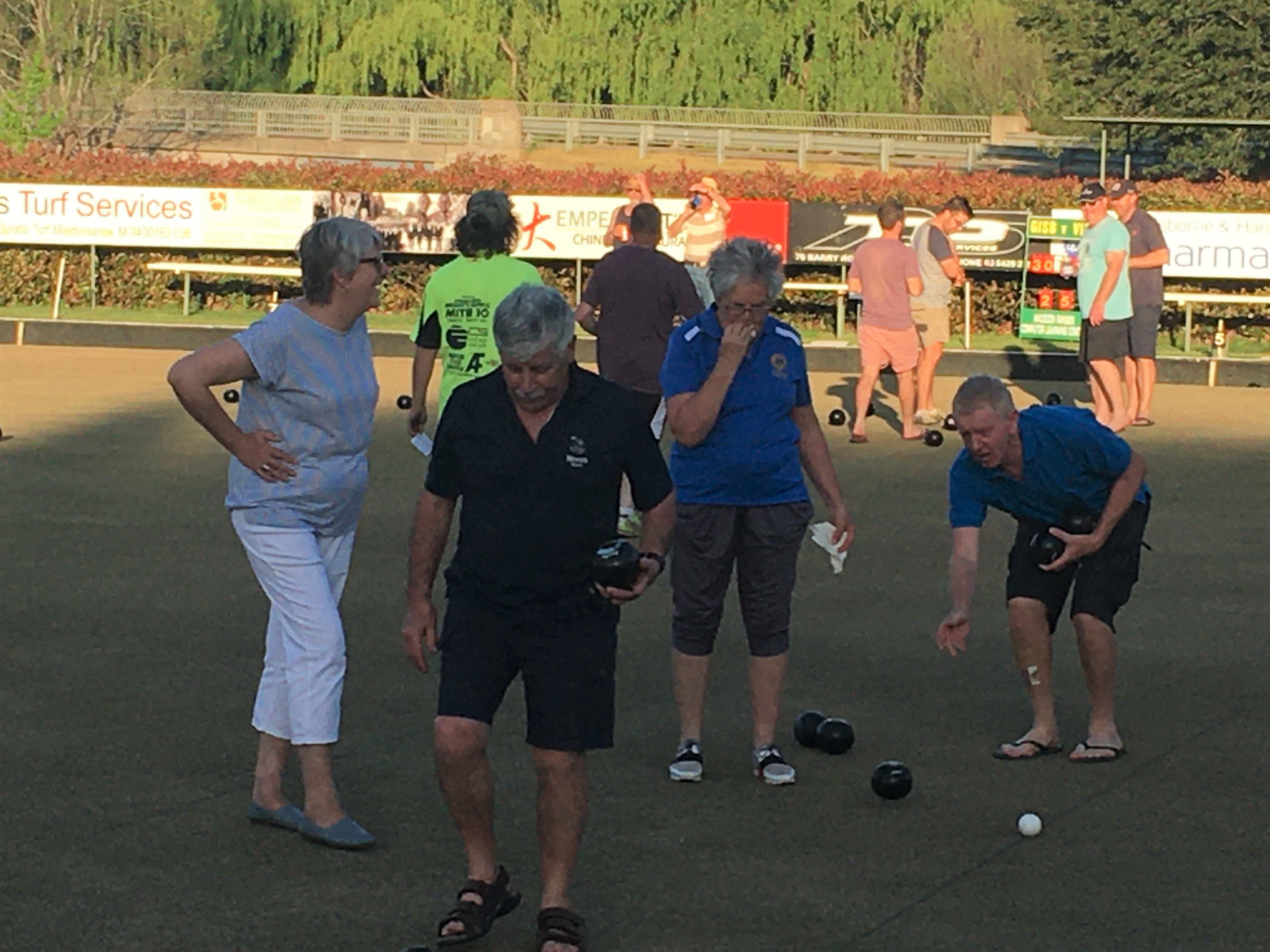 Lions Barefoot Bowls Team