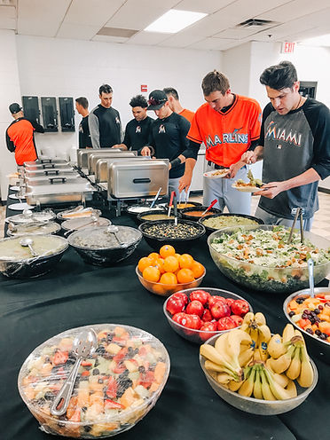 Miami Marlins catered buffet lunch