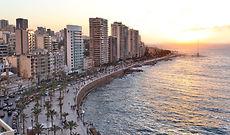 Bilck auf die Corniche in Beirut