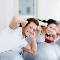Mat group pilates men and women