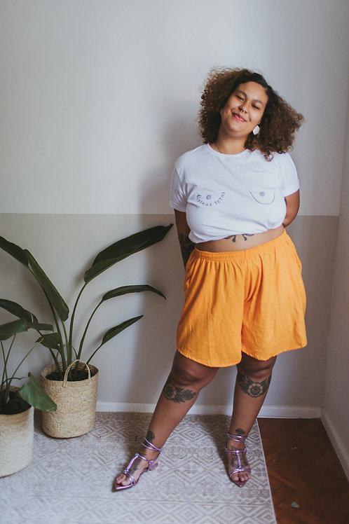Short com bolso | Laranja Laya