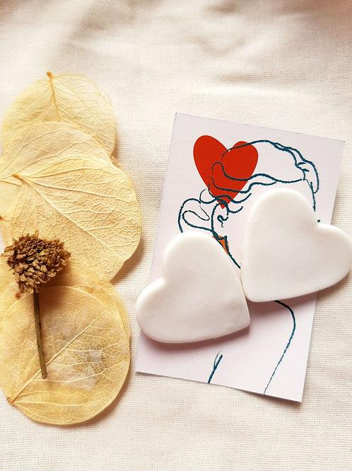 Brinco Coração | Branca