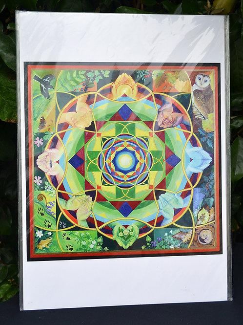 'Cletwr Mandala' Art Poster