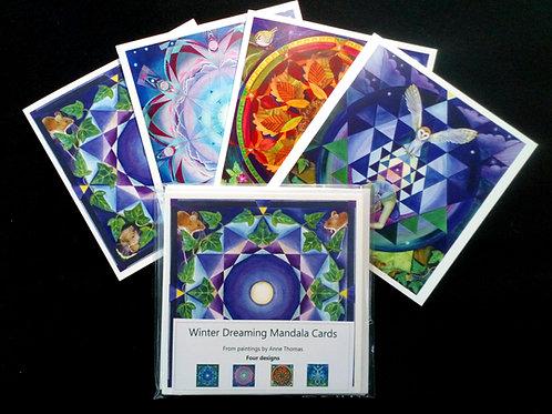 Winter Dreaming Mandala Cards