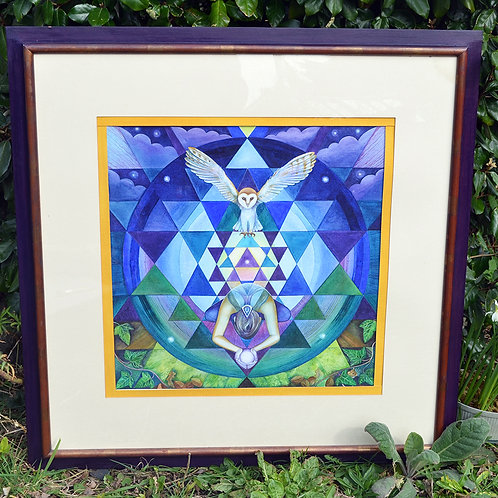 'Affirmation' Original Framed Watercolour Painting