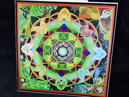 'Cletwr Mandala' Greetings Card