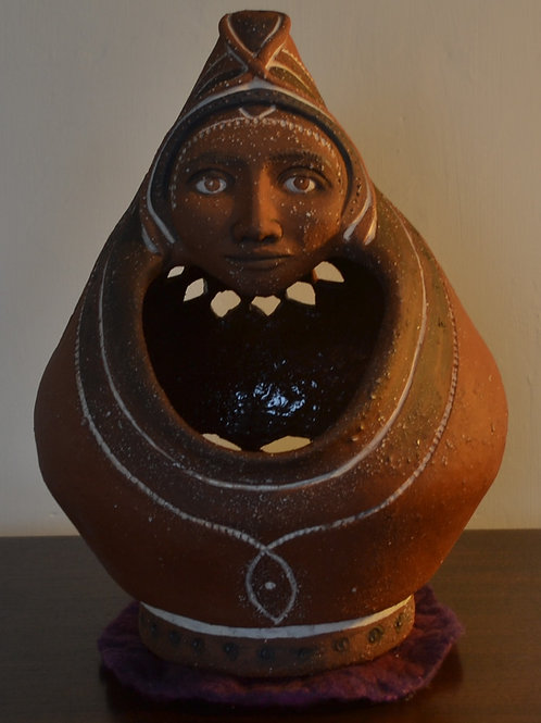 'Grandmother' Terracotta Ceramic Sculpture
