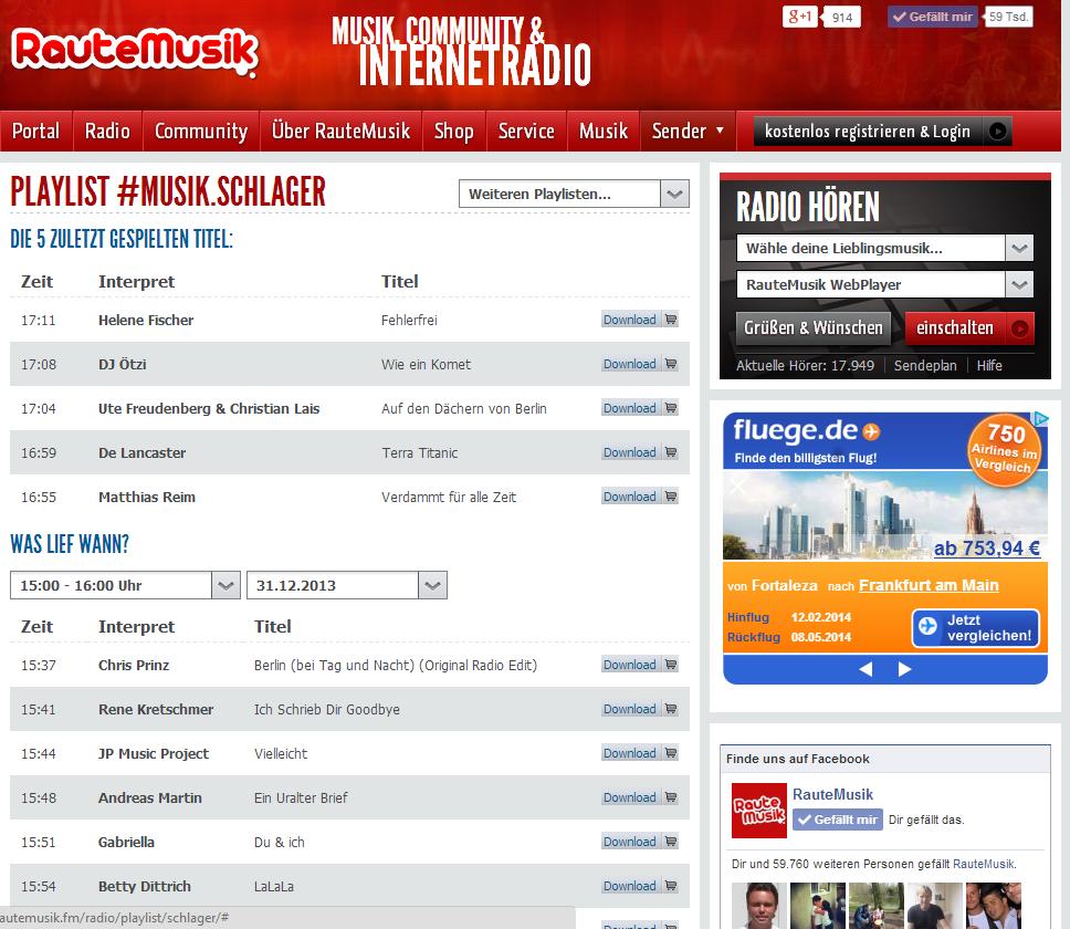 Raute FM Radioplaylist