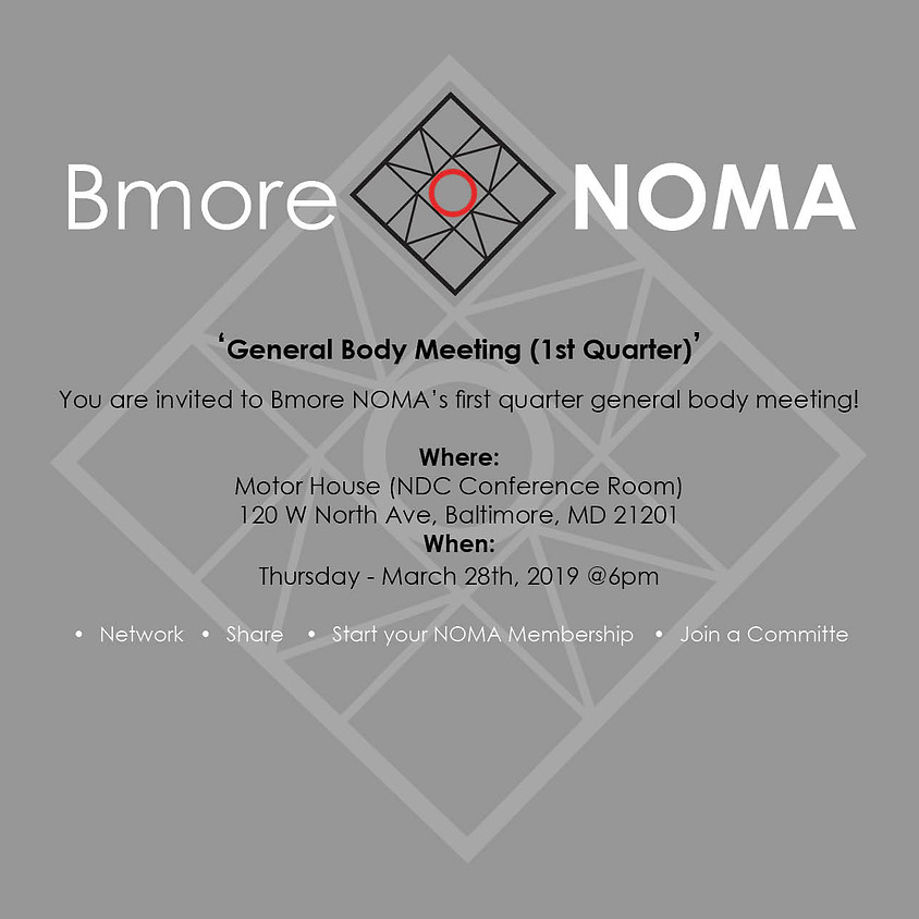 General Body Meeting (1st Quarter)
