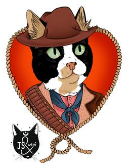 Cowboy Cat Portrait
