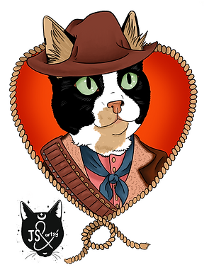 Cowboy Cat Portrait