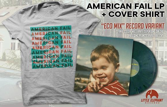 Cover Shirt + Vinyl Bundle - American Fail