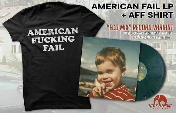 AFF Shirt + Vinyl Bundle - American Fail