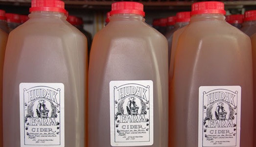 Hudak cider pressed from VT apples