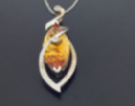 14k White Gold with 4.5ct Citrine and Di