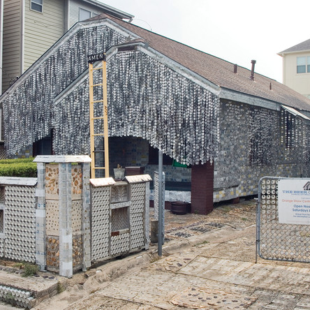 Beer Can House Exterior Front - photo by