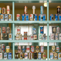 Beer Can House Interior beer cans from a
