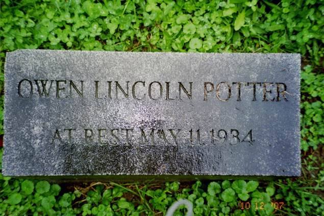 The Grave of Owen Lincoln Potter