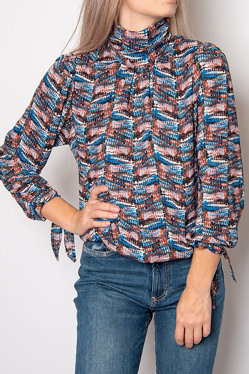 Surplice Long Sleeve Blouse