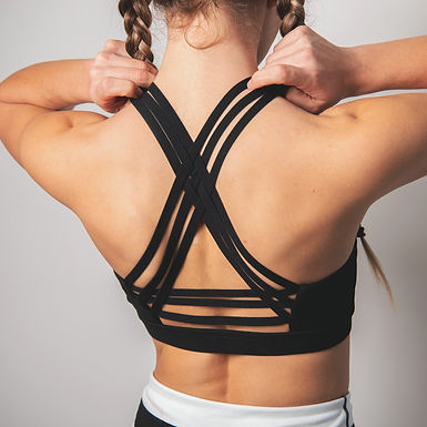 Interlock Criss-Cross Back Strap Sports Bra