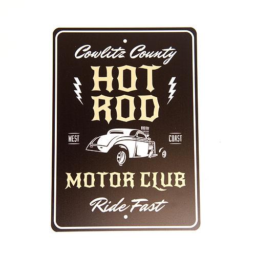 Cowlitz County Hot Rod Sign