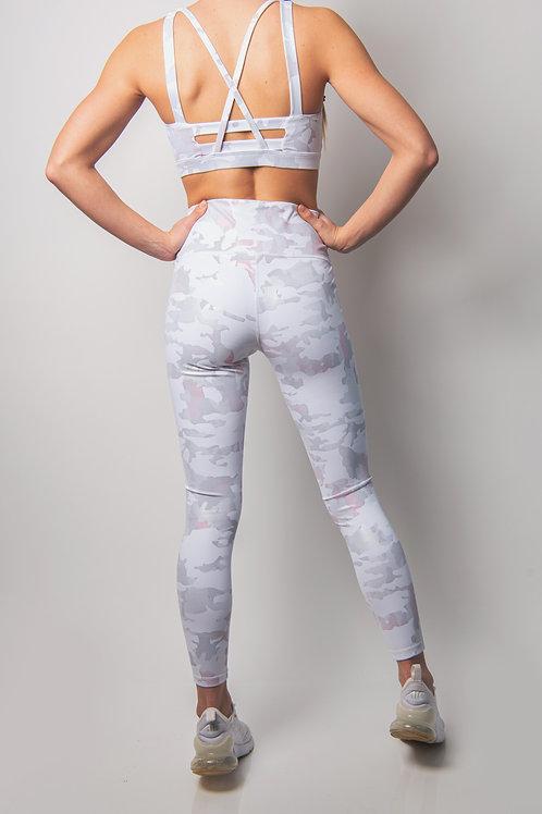 Pink Dawn Camo Print Highwaist Leggings