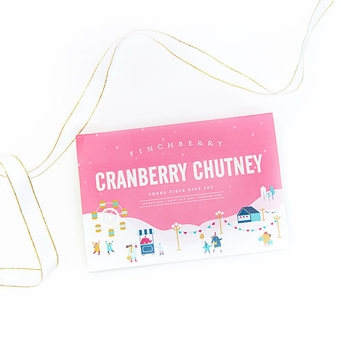 Finchberry Cranberry Chutney 3 Piece Set