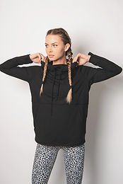 Boxy Active Essential Hoodie Pullover with Thumb Holes