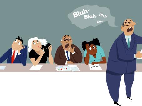 Nobody likes meetings