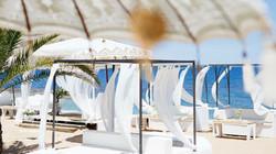 Lounge am Strand von Javea
