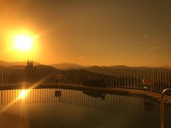 Sonnenuntergang auf der Villa Finca