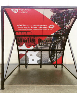 Applied Printed Vinyl Graphic to Bike Store