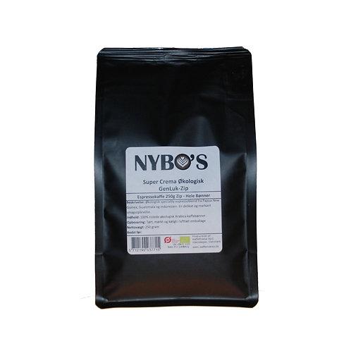 Nybo's egen espresso kaffe. Super Crema Økologisk 250g
