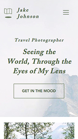 Travel & Documentary website templates – Travel Photographer