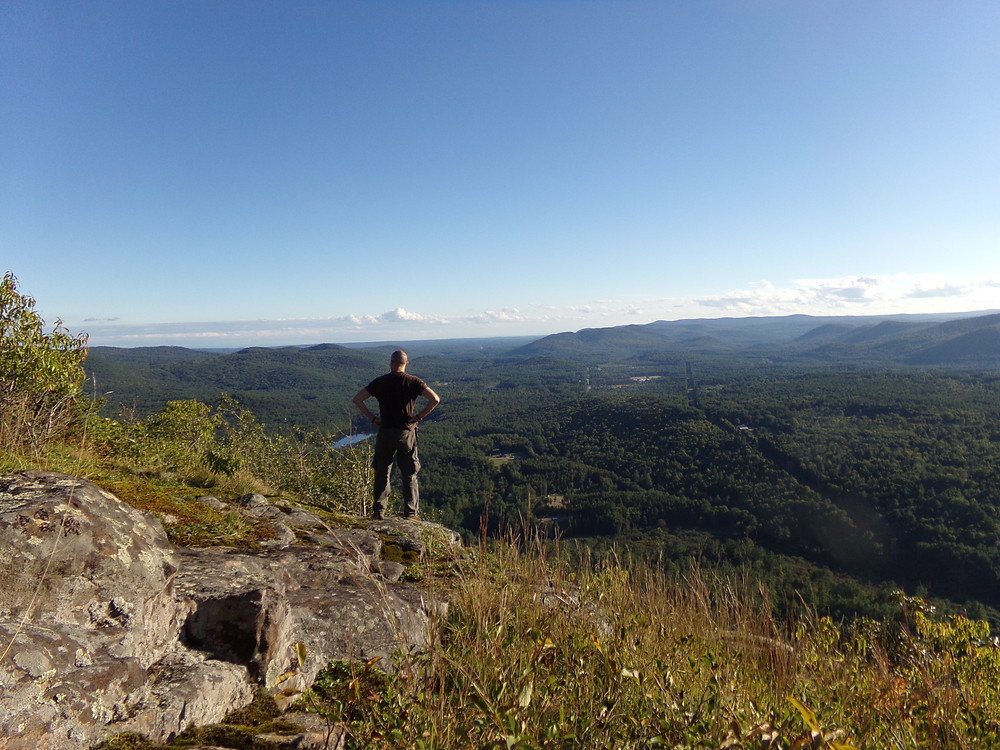 At the summit of Wyanokie High Point during our first Social Hike.