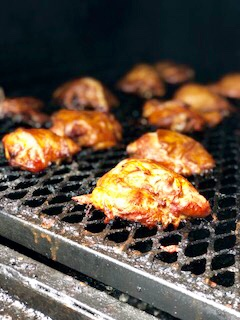 Chicken on Smoker